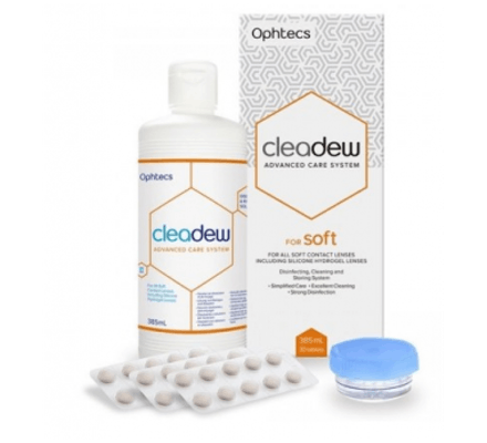 Image of Cleadew soft - 385ml & 30 Tabletten inkl- Behälter