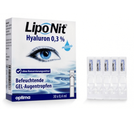 LipoNit eye drops GEL 0.3% - 30x0.4ml