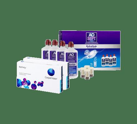 Sparset: Biofinity - 6 und AO Sept Plus HydraGlyde