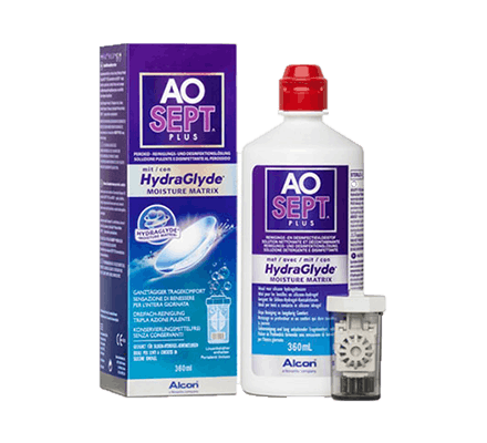 AO Sept Plus HydraGlyde - 360ml incl. lens case
