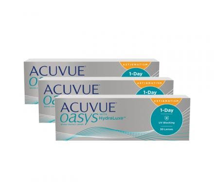 ACUVUE OASYS 1-Day with HydraLuxe for Astigmatism - 90 Lentilles journalières