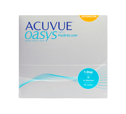 ACUVUE OASYS 1-Day with HydraLuxe for Astigmatism - 90 Tageslinsen