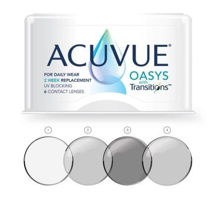 Acuvue Oasys with Transitions - 6 Contact Lenses