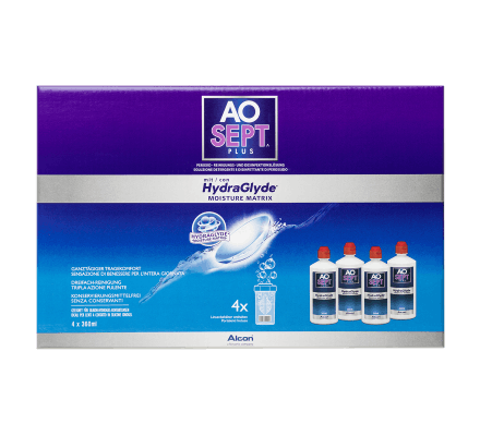 AO Sept Plus HydraGlyde - 4 x 360ml inkl. Behälter