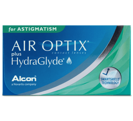 Air Optix Plus HydraGlyde for Astigmatism - 3 Monthly Lenses