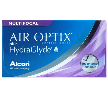 Air Optix Plus HydraGlyde Multifocal - 3 Lentilles mensuelles