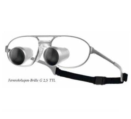Carl Zeiss G 2.5x TTL Loupes - incl. Titanium Frame, without LED