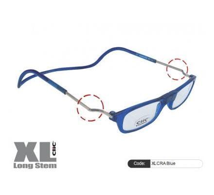 Clic Magnet Lesebrille XLCRA Blue