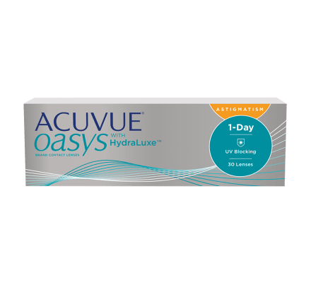 ACUVUE OASYS 1-Day with HydraLuxe for Astigmatism - 30 Lentilles journalières