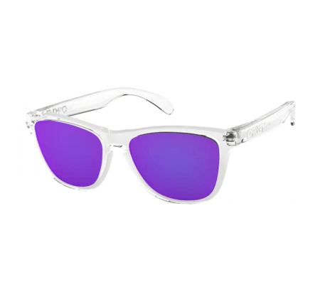 Oakley Frogskins 24-305 Polished Clear/Violet Iridium occhiali da sole