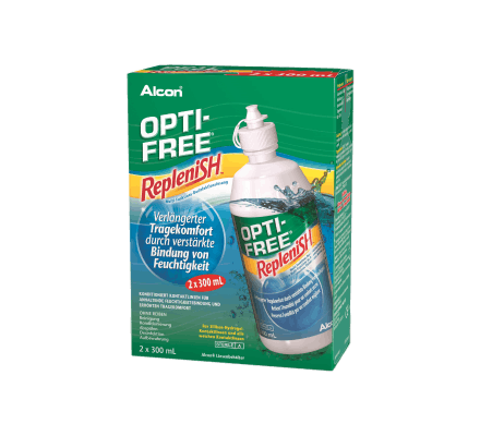OptiFree RepleniSH ALCON Double 2x300ml & containers