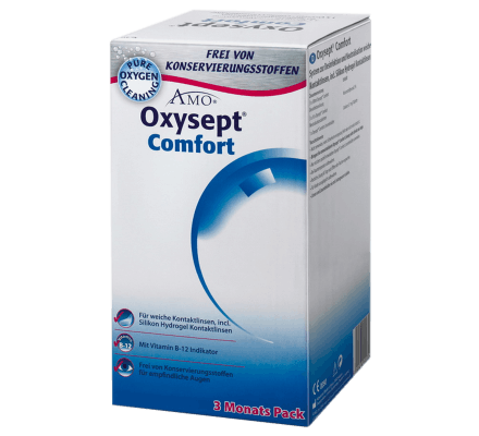 Oxysept Comfort B12 - 3x300ml & 90 pills & case