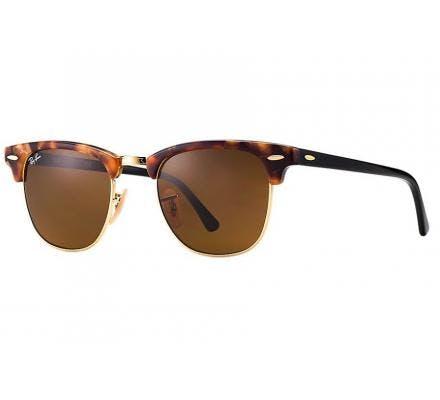 Ray-Ban Clubmaster RB3016 - 1160  49-21 tacheté de brun