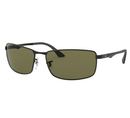 Ray-Ban RB3498 - 002-9A Pol. Black/Green 64-17