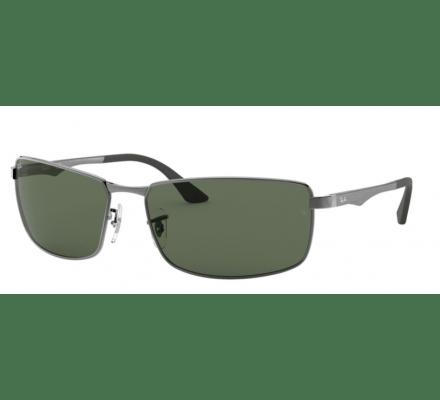 Ray-Ban RB3498 - 004-71 Gunmetal / Green 61-17