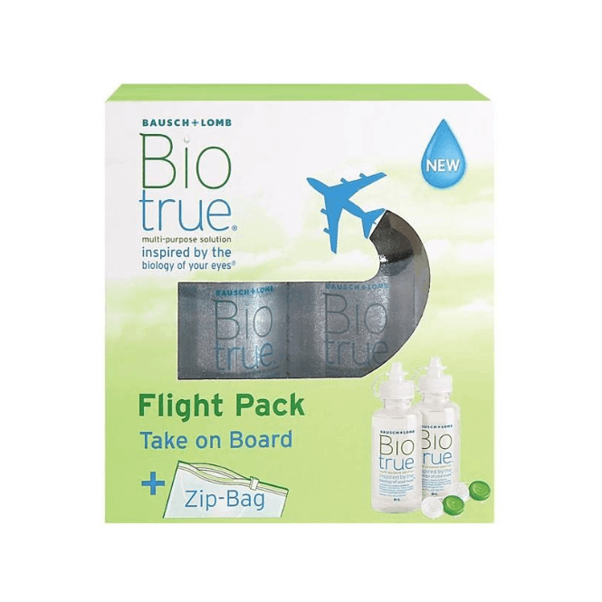 Biotrue All-in-one Flight-Pack - 2 x 60ml & Behälter