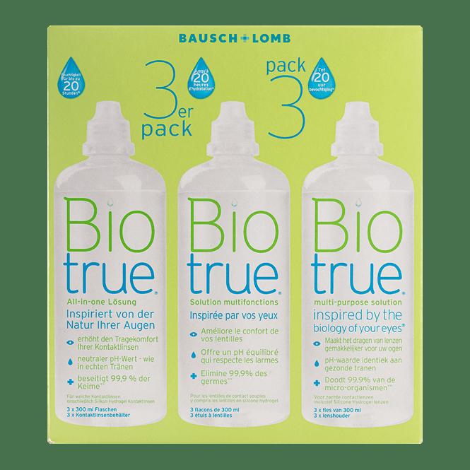 Biotrue All-in-one - 3x300ml inkl. Behälter