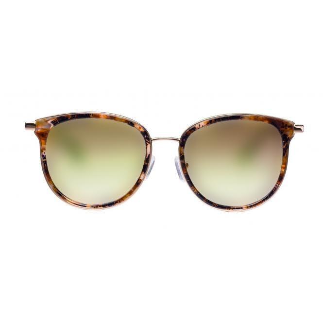 LENSVISION - #ClassyMonaco - braun gemustert / gold