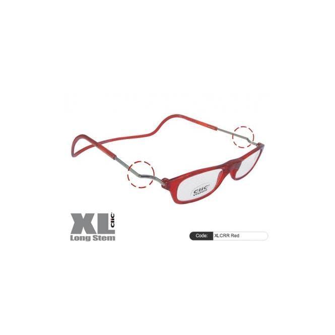 Clic Magnet Lesebrille XLCRR Red