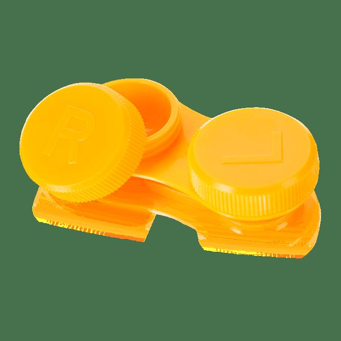 Linsenbehälter flach orange - 1x