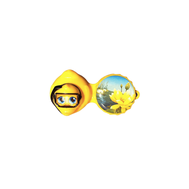 3D Kontaktlinsenbehälter Ente - 1x