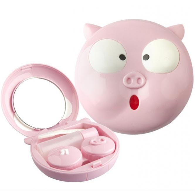 Linsenbehälter Reiseset Funny Pig - 1x