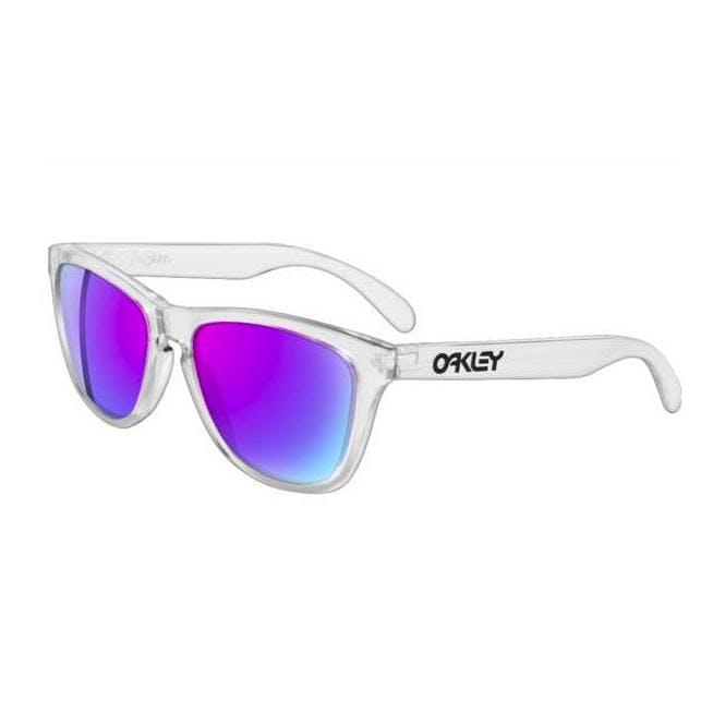 Oakley Frogskins 24-305 Polished Clear/Violet Iridium Sonnenbrille