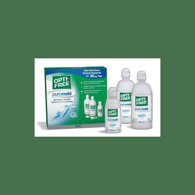 OptiFree PureMoist - 2x300ml + 90ml + Behälter