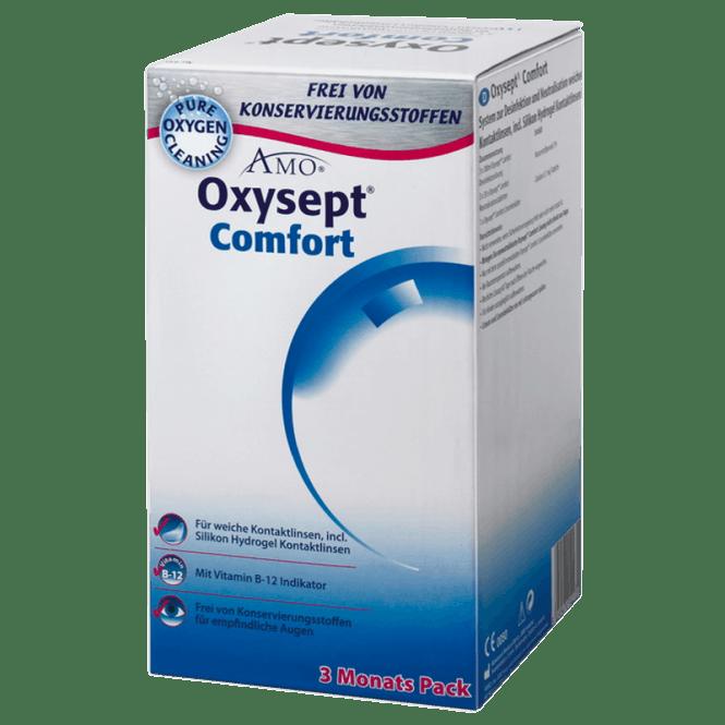 Oxysept Comfort B12 - 3x300ml & 90 pills & case