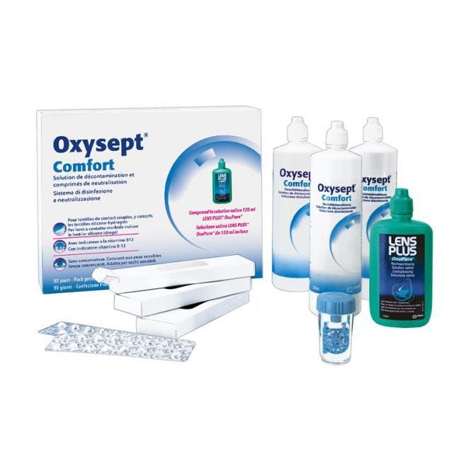 Oxysept Comfort B12 - 3x300ml & 90 Tabletten + 120ml Lens Plus