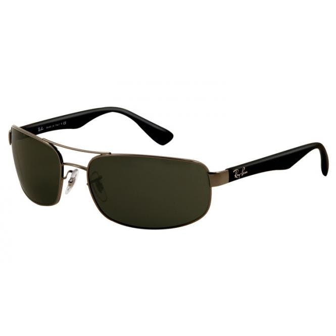 Ray-Ban RB3445 - 004 Gunmetal Green 64-17