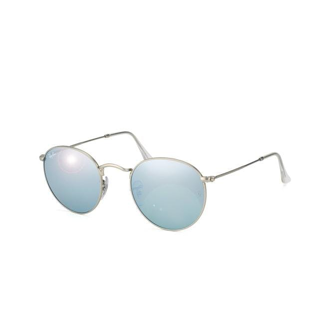 Ray-Ban ROUND METAL 50-21 RB3447 019/30 Green Mirror Silver