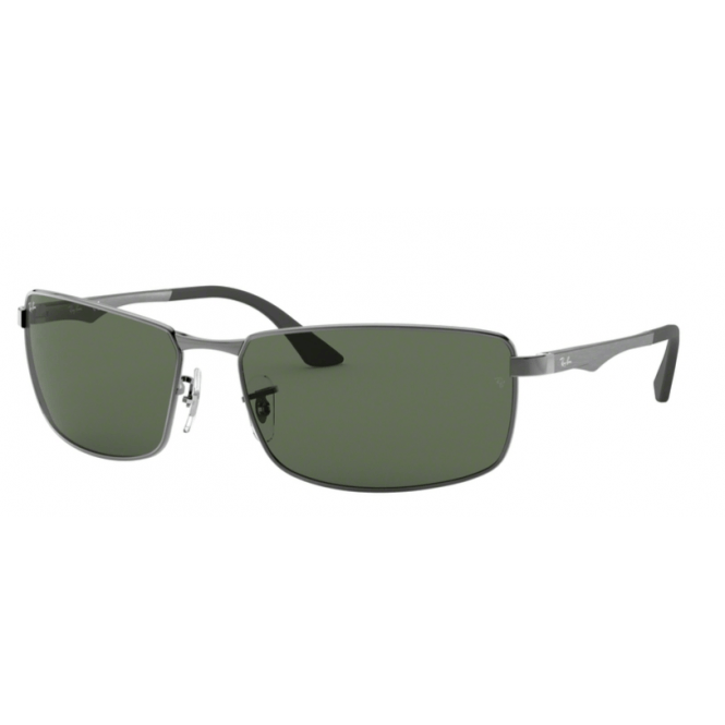 Ray-Ban RB3498 - 004-71 Gunmetal / Green 64-17