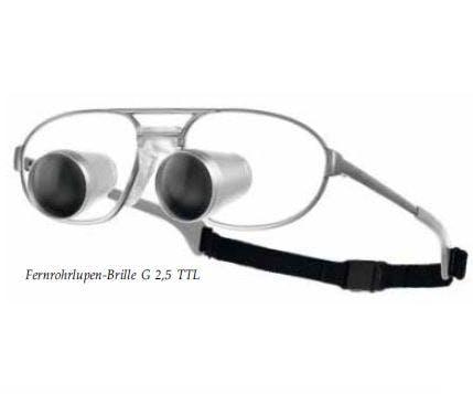 Carl Zeiss G 2.5x TTL Lupebrille - inkl. mit Titan-Fassung, ohne LED