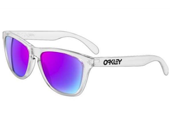 03440be0231 Start scanning   . Zoom. Oakley Frogskins 24-305 Polished Clear Violet  Iridium Sunglasses