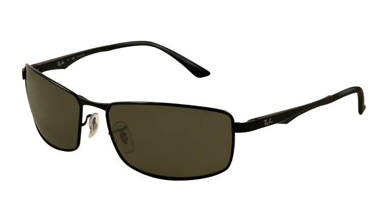 62b3e636e1c Sunglasses - Ray-Ban RB3498 - 002-9A Pol. Black Green 61-17 - buy ...