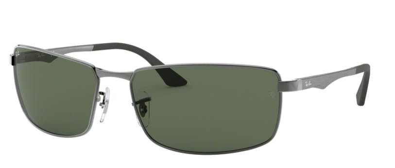 Ray-Ban RB3498 - 004-71 Gunmetal / Green 64-17